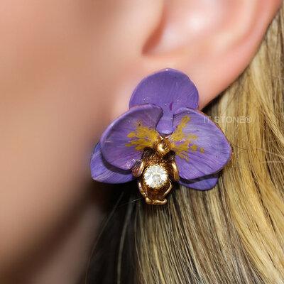 Brinco Orquídea Fancy Violet