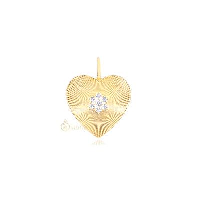 Pingente Heart Luxo Rosé Gold