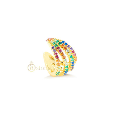 Piercing Falso Cramp Rainbow Gold (unidade)