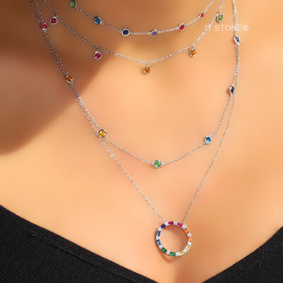 Choker Tiffy Luxo Rainbow