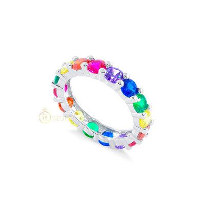 Aliança New Eternity Luxo Rainbow