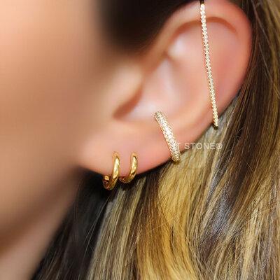 Piercing Falso Cartilagem Gold Luxo (unidade)