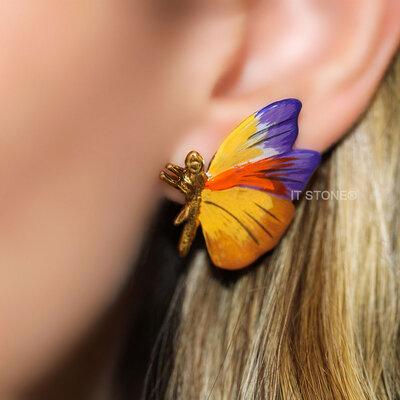 Brinco Butterfly Petit Warm Purple