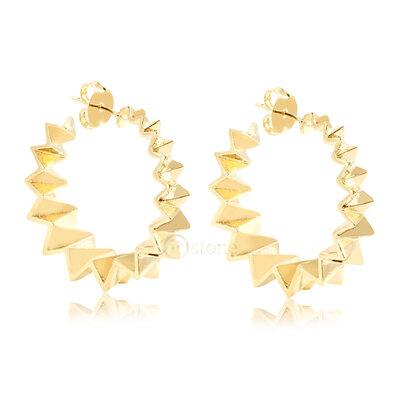 Argola Crinkle Gold