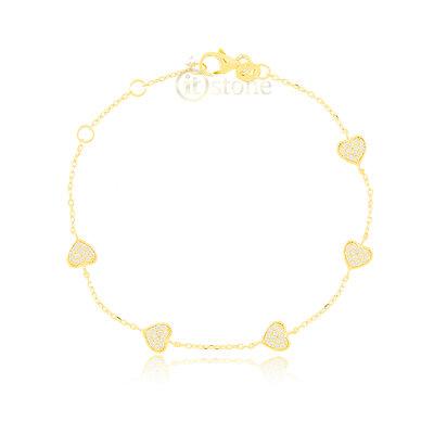 Pulseira Five Hearts Gold