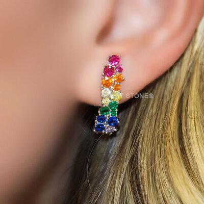 Ear Hook Rainbow Large