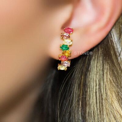 Ear Hook Ovais Colors Bombardeado
