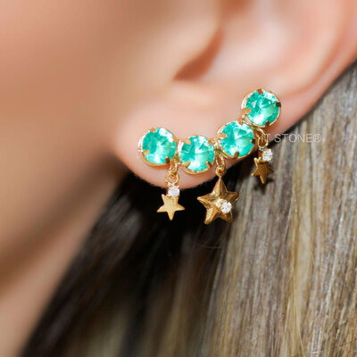 Ear Cuff Round Stars Turmalina