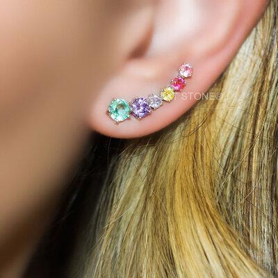 Ear Cuff Lights Rainbow