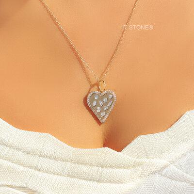 Colar Coração Stones Luxo