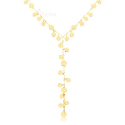 Colar Gravatinha Plaquets Gold