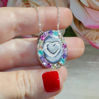 Colar Relicário Colors Luxo Heart