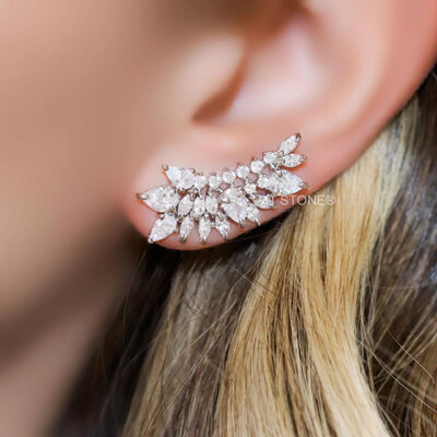 Ear Cuff Ivy Cristal