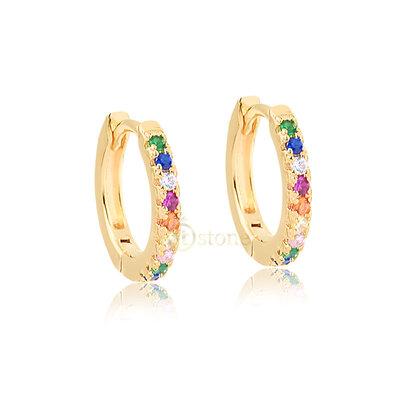 Argolinha Slim Rainbow Gold