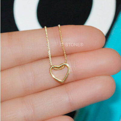 Colar Heart Vazado Gold
