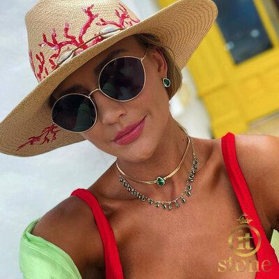 Look Ana Paula Siebert - Mix Choker Gota Jumeirah Turmalina Gold