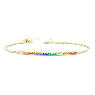 Pulseira Trace Rainbow Gold