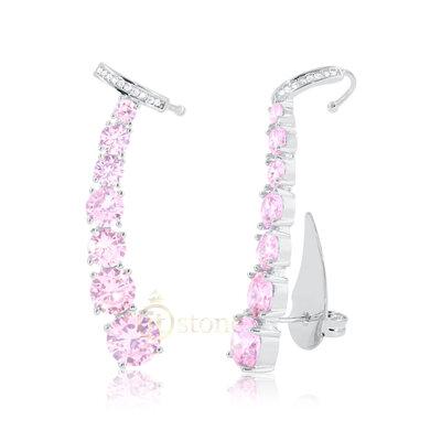 Ear Cuff Crystals Kunzita Luxo