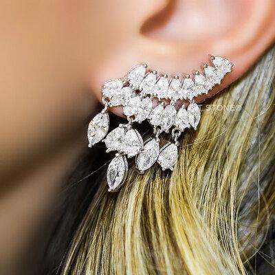 Ear Cuff Multiple Gotas Luxo