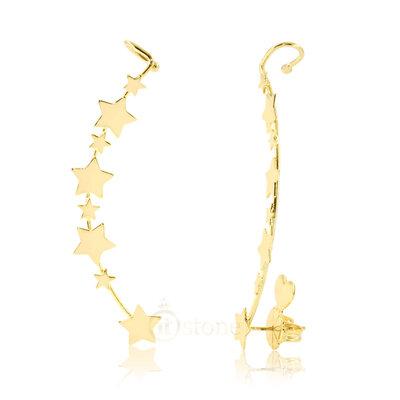 Ear Cuff Estrelas Gold