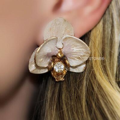 Brinco Orquídea Nude Pearl