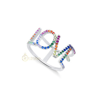 Anel Love Rainbow