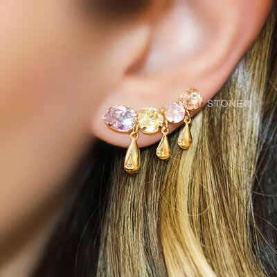 Ear Cuff Colors Candy Gotas Dangle