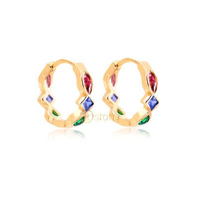 Argolinha Multi Lapidações Colors Gold