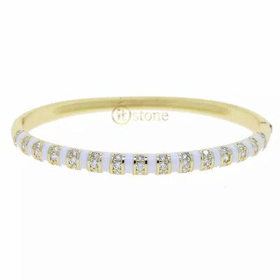Bracelete Esmaltado Luxo White
