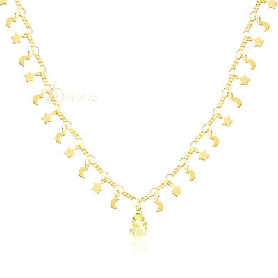 Gargantilha Moon Star Fancy Yellow Gold