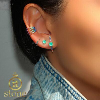 Ear Hook Square Rainbow