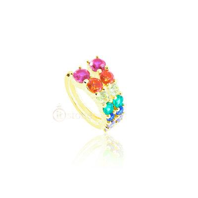 Piercing Falso Victoria Rainbow Gold (unidade)