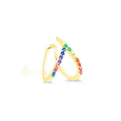 Piercing Falso Vazado Rainbow Gold (unidade)