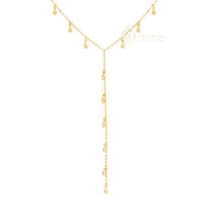 Colar Gravatinha Drops Gold