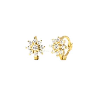 Argolinha Baby Flower Segundo ou Terceiro Furo Gold
