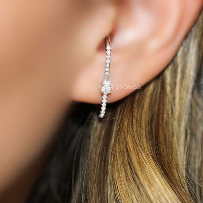 Ear Hook Gota Cristal