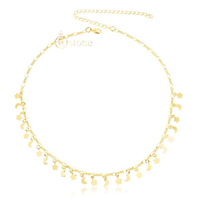 Choker Moon Star Gold
