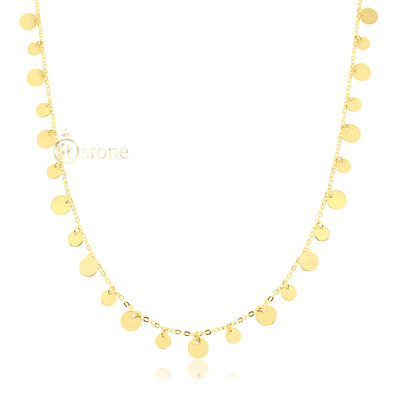 Colar Plaquets 70cm Gold