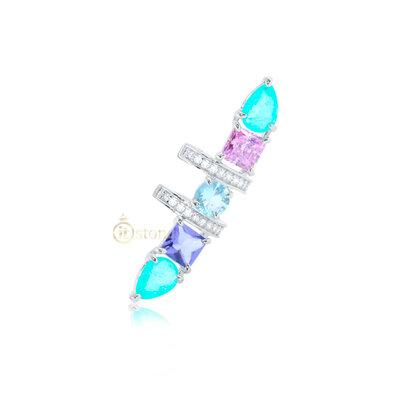 Piercing Falso Pedras Colors Luxo (unidade)