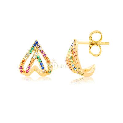 Brinco Luxury Hyde Rainbow Gold