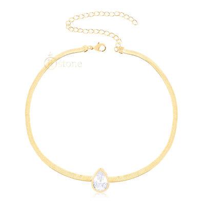 Choker Gota Jumeirah Crystal Gold