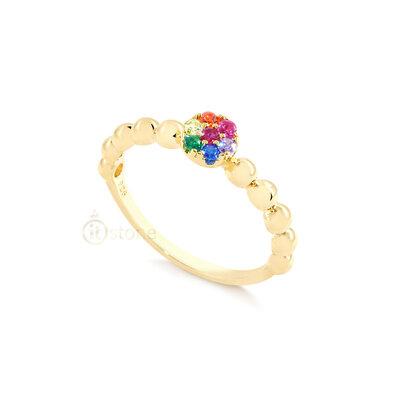 Anel Bolinhas Rainbow Gold