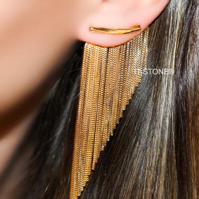 Ear Cuff New Fringe Gold