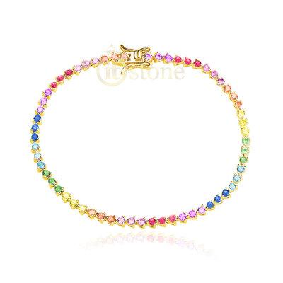 Pulseira Riviera Luxo Rainbow Gold
