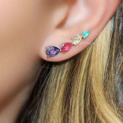 Ear Cuff Gotas Decrescentes Colors