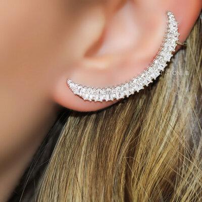 Ear Cuff Baguetes Luxo
