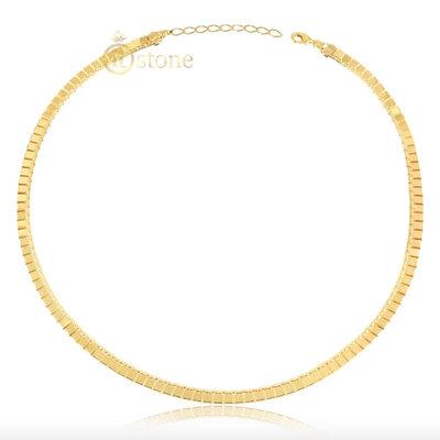 Choker Plaquinhas Gold Luxo