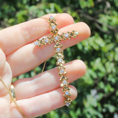 Colar Cruz Maleável Gold Luxo