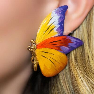 Brinco Butterfly Deluxe Warm Purple
