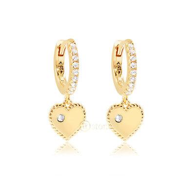 Argolinha Heart Classy Gold